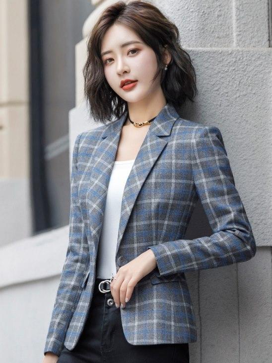 女外套_韓版OL女西裝外套 復古格子cpj09_女裝外套_女裝_CPshirt